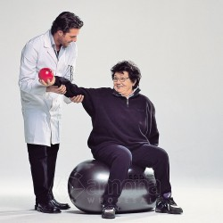 Physiotherapy ball Original PEZZI Eggball Maxafe 85x125, Black