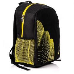 Backpack Meteor Hathor, black / yellow