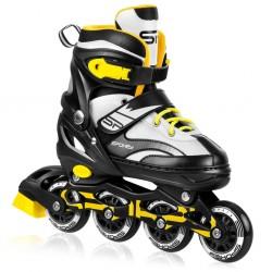 Roller skates TONY black / white / yellow