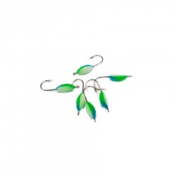 Glowing Tricolor smelt fishing jig No. 8 Green/Blue/White
