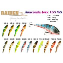 Wooden Wobbler RAIDEN ANACONDA JERK 155 40G,Colour SS05-01