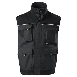 Men's work vest WOODY W52 Ebony Gray