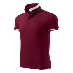 Men's Polo Shirt Collar Up, Garnet